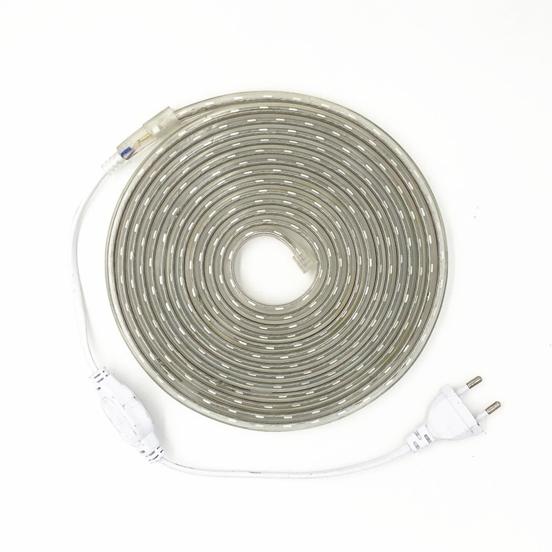 LED Strip Light AC 220V SMD 5050 Flexible Waterproof LED Tape 60LEDs/m Ribbon for Living Room 1M/2M/3M/4M/5M/6M/7M/8M/10M/15M20M