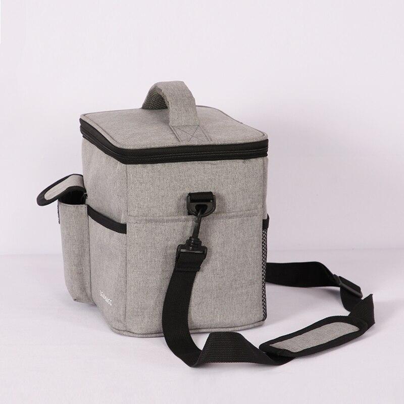 Sacs à Lunch simples isolés solide thermique Lunchbox alimentaire pique-nique sac refroidisseur fourre-tout sacs à main pour hommes femmes Portable étanche boîte
