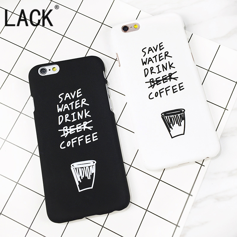 Ultra-thin frosted Fashion Cute Cartoon Letter Case For iphone 6 case For iPhone 6S 7 7Plus Back Cover Phone Cases Capa Fundas