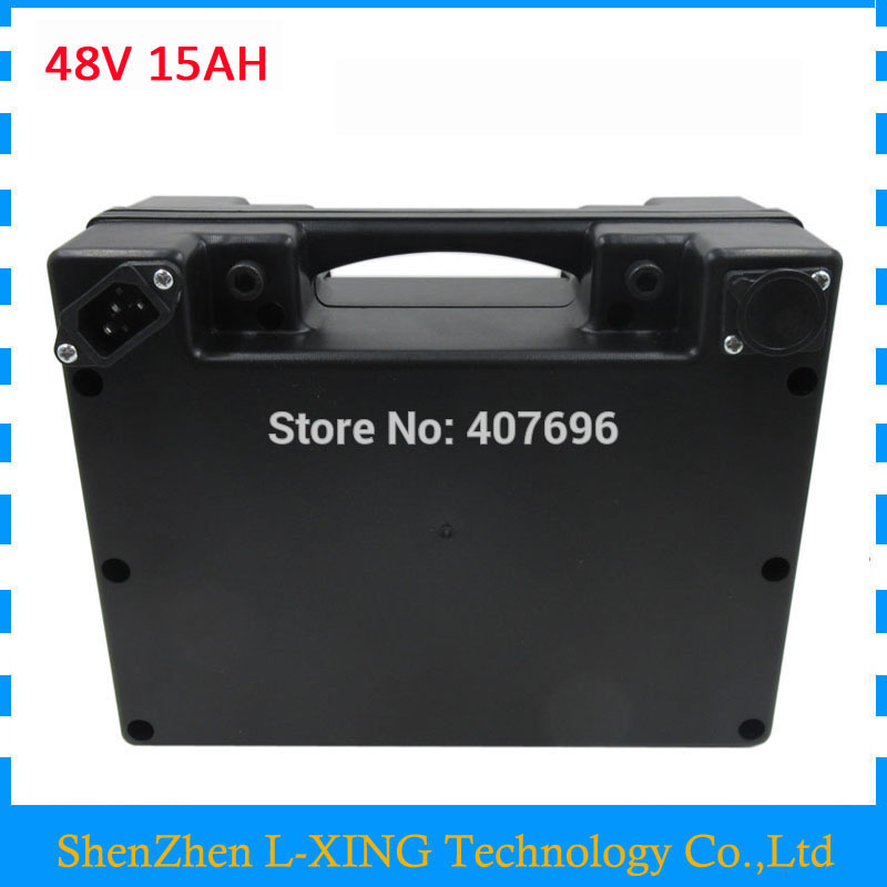 48volt scooter battery 48V 15AH 48 V ebike Lithium battery with waterproof black case 20A BMS 2A Charger use for samsung cell 48v 15ah 700w bicycle battery use for samsung e bike battery 48v with 2a charger bms lithium electric bike scooter battery 48v