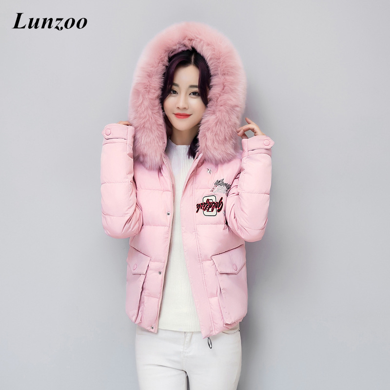 ФОТО Fashion 2017 Long Sleeve Women Winter Coat Letter Pattern Slim Waist Thickening Women'S Overcoat Plus Size All-Match Female Coat