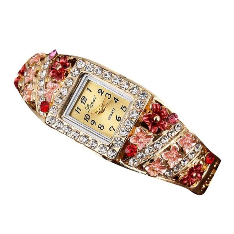 ff3e6f8b9a01 Irisshine i0856 mujer reloj señora chica regalo marca de lujo LVPA Venta  caliente de moda de lujo Relojes de mujer flores reloj pulsera