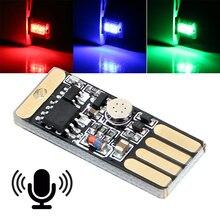 Автомобильный светодиодный светильник для сенсорного и звукового управления, автомобильная декоративная лампа, автомобильный Стайлинг, RGB музыкальный ритмический светильник с usb-разъемом