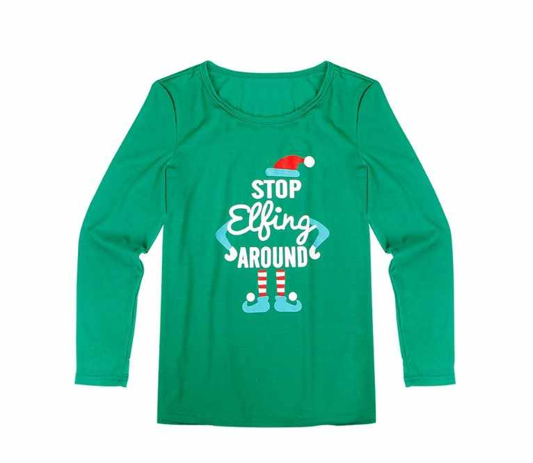 2019 คริสต์มาสชุดนอนชุดครอบครัวจับคู่เสื้อผ้าผู้ใหญ่ชุดนอนเด็กทารก Romper Xmas หยุด Elfing ครอบครัวชุดนอน