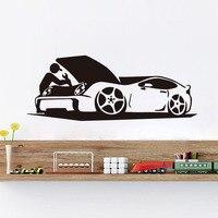 DCTOP Homem Reparar Sua Auto Adesivo de Parede de Vinil Auto Adesivo arte Decalques Para Carro Rpair Shop Home Decor Quarto do Menino decoração