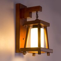 Painted Wooden Restaurant Wall Light Dining Room Corridor Wall Lamp Balcony Hallway Hanging Wall Lighting Fixture