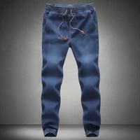 Men Jeans Pants 2017 New Brand Man Elastic Denim Joggers Male Slim Fit Jeans Trousers Mens Pencil Pants Man Denim Pants