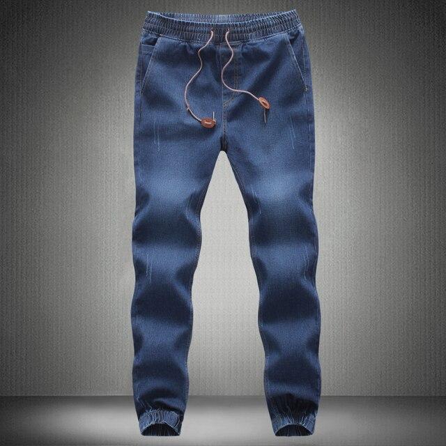 a566c5e902d Los hombres pantalones vaqueros de 2019 nueva marca hombre elástico Denim Joggers  hombre Slim Fit pantalones