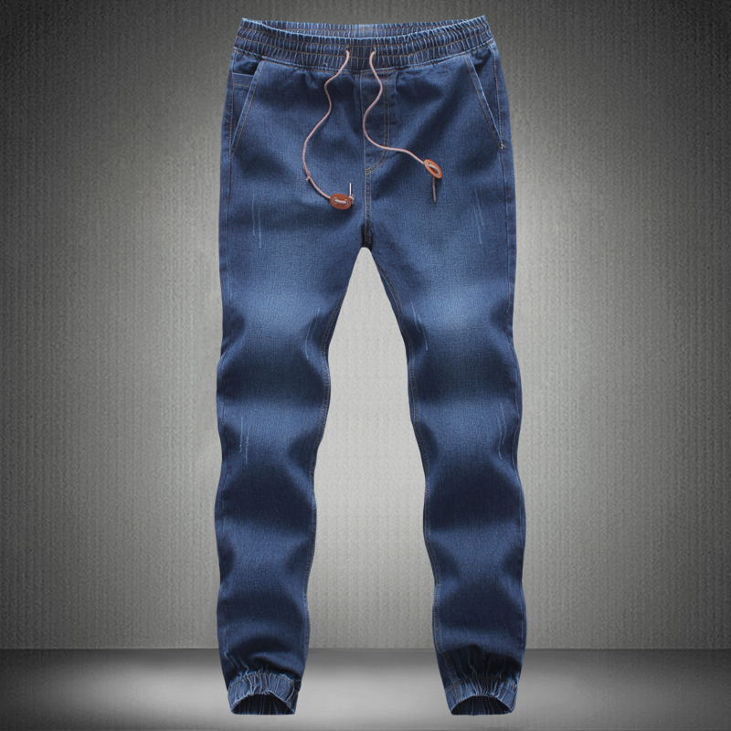 a2b0e414f2f Men Jeans Pants 2019 New Brand Man Elastic Denim Joggers Male Slim Fit Jeans  Trousers Mens Pencil Pants Man Denim Pants-in Jeans from Men s Clothing on  ...