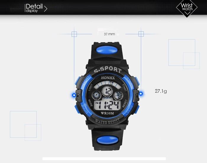 GEMIXI 2018 Fashion And luxury  Waterproof Children Boy Digital LED Quartz Alarm Date Sports Wrist Watch  Oct.8 1