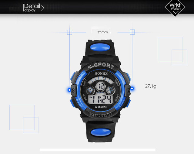 GEMIXI 2018 Fashion And luxury  Waterproof Children Boy Digital LED Quartz Alarm Date Sports Wrist Watch  Oct.8 1