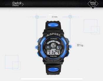 New Gemixi Fashion And luxury Waterproof Children Boy Digital LED Quartz Alarm Date Sports Wrist Watch Oct . 8.