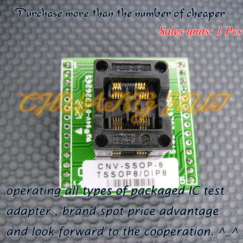 CNV-SSOP8-DIP Adapter TSSOP8/SSOP8- DIP IC Test Socket / Programmer Adapter Dual work stations laterally placed OTS-28-0.65-01 ai329 dip 16