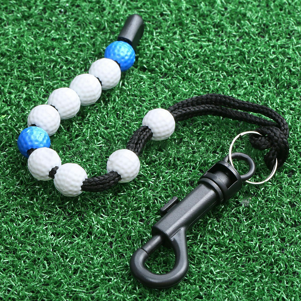Golf Stroke Score Counter Plastic Golf Ball Beads Putt Counter Training Accessories Professional Aid With Clip Durable