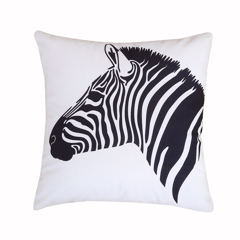 mecerock new linen pillow cover black white zebra carcovers and 45cmx45cm cushion cover home
