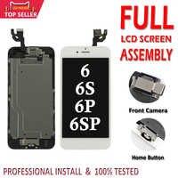 Ecran LCD complet pour iPhone 6 6S Plus écran LCD écran tactile numériseur assemblée remplacement Ecran complet avec bouton Home + caméra