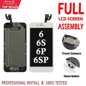 Image 1 - Tela lcd completa para iphone 6, 6s, plus, display lcd, touch screen, digitalizador, montagem, substituição, conjunto completo, ecran com casa botão + câmera