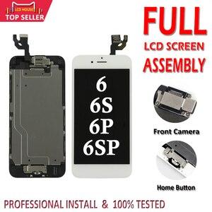 Image 1 - Полный ЖК дисплей для iPhone 6 6S Plus, сменный сенсорный ЖК экран с цифровым преобразователем в сборе, полный комплект Ecran с кнопкой «домой» и камерой