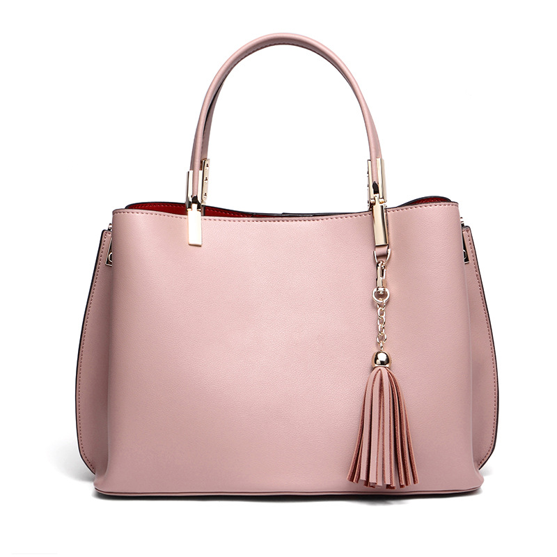 Women's bag handbags 2018 new autumn models Europe and the United States fashion wild shoulder Messenger bag 2018 new europe and the united states stitching shoulder messenger bag spring and summer fashion personalized pu rivet handbags