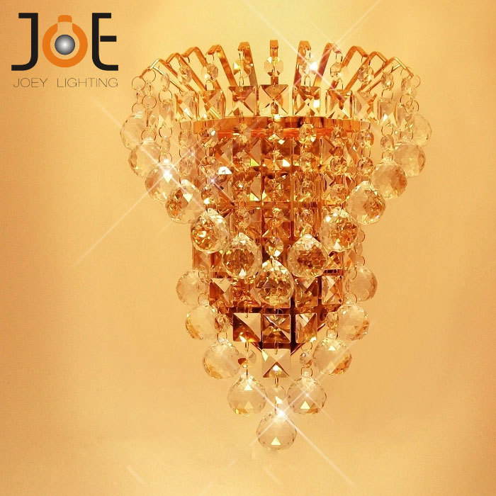 Fashion crystal wall lamp for kitchen bedside brief wall sconce ...