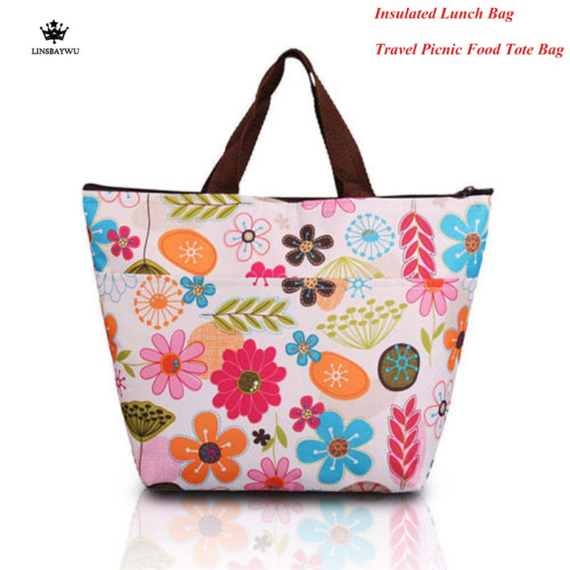 Hot Sale Protable Lunch Storage Box Insulated Lunch Bags Thermal Cooler Box for Women Kids Carry Tote Storage Travel Picnic Bag