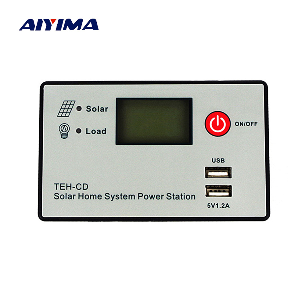 Aiyima 12V 24V 30A 20A 10A PWM Solar Charge Controller Auto Solar Panel Controller Dual USB 5V Charging LCD Display For PV Home 30a solar charge controller 12v 24v auto work solar panel battery controller 30a 12v 24v lcd display dual solar input system