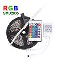 5M 60LEDs/m RGB LED Strip Light SMD 2835 DC12V Flexible Light Luz LED Tape Home Decoration RGB Lamps +24Key Remote Controller
