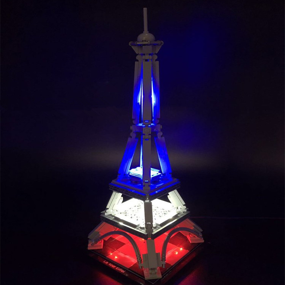 LED light up kit (only light included) for lego 21019 Eiffel Tower retro eiffel tower pattern pc back case for iphone 4 4s black light brown