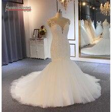 Vestido de novia de sirena con cuentas
