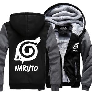 Image 3 - ชายอะนิเมะNaruto Uzumaki Naruto 2019 ฤดูใบไม้ผลิฤดูหนาวขนแกะซิปhoodiesแฟชั่นกีฬาHarajuku tracksuits kpop
