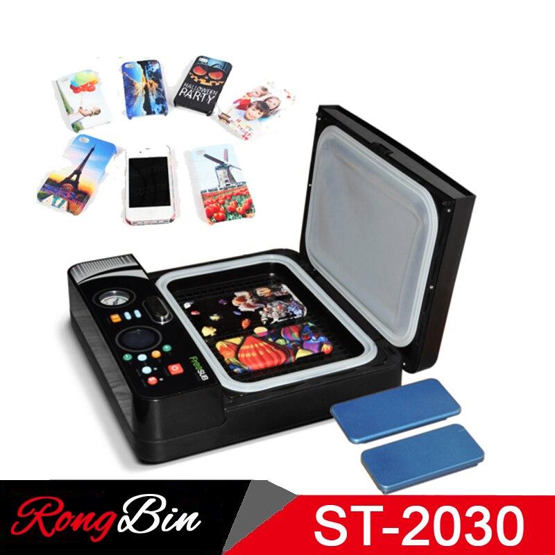 ST2030 Petite Lumière 3d Sublimation Thermique Sous Vide Machine de Presse 3D Téléphone Cas Imprimante Cas de Téléphone De Transfert De Chaleur pour Tous Les Mobiles