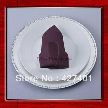 High Quality 50x50cm Eggplant Polyester Plain Napkin / Table Napkin / Hotel Napkin / Dinner Napkin  (Factory Direct Sale)