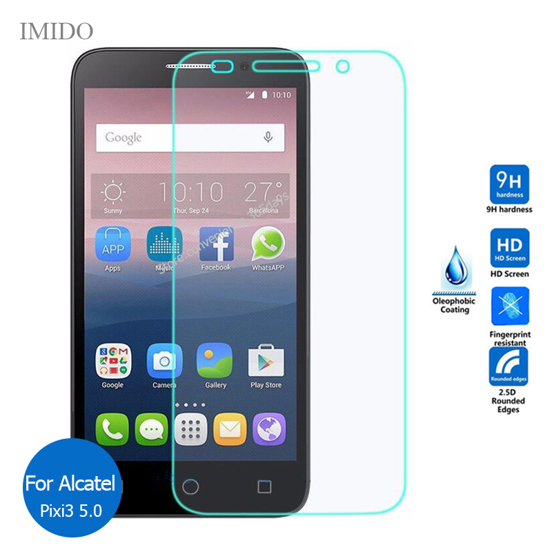 Galleria fotografica For Alcatel One Touch Pixi 3 5.0 Tempered Glass Screen Protector 2.5 9h safety Protective Film on onetouch pixi3 5