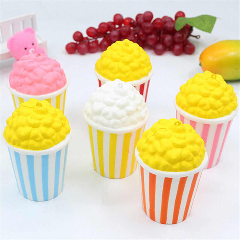 JRGK милый kawaii мягкий и легко сдавливаемый предмет мягкий мини-пончик/Клубничный торт/мороженое/попкорн Мобильный телефон ремни для детей подарок