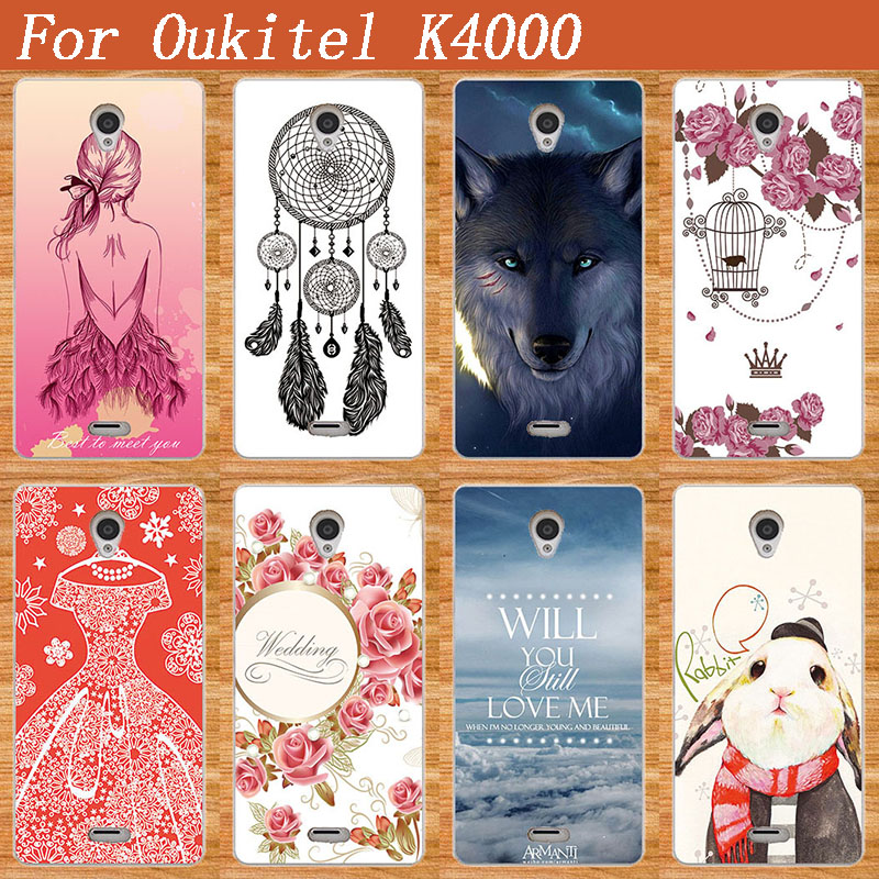 For <font><b>OUKITEL</b></font> <font><b>K4000</b></font> cover Luxury Patterns painted Cell Phone Case Cartoon lovely Painting DIY Case Phone Covers For <font><b>OUKITEL</b></font> <font><b>K4000</b></font> image