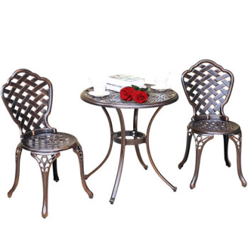 European style leisure outdoor tables and chairs garden cast aluminum tables and chairs set