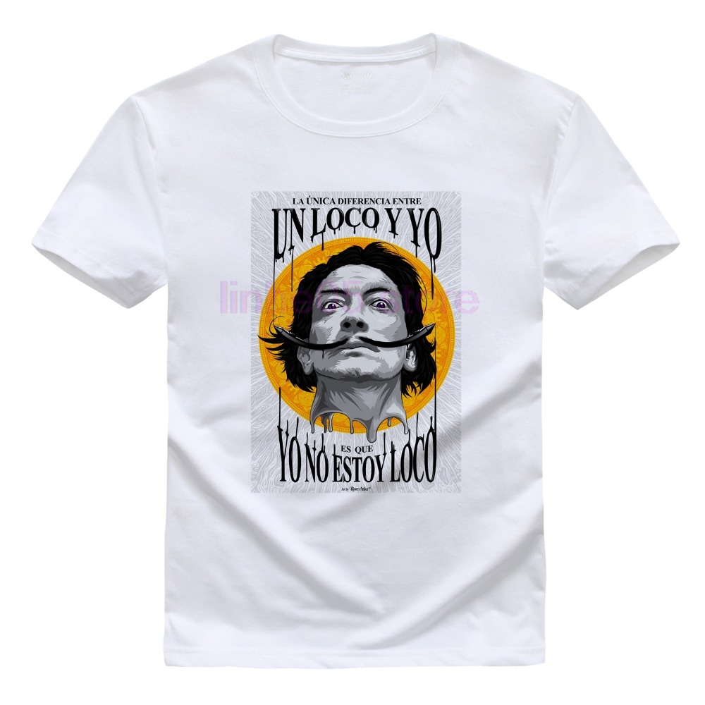 Skipoem Lustige T Hemd Salvador Dali Surreal Kunst Baumwolle O Neck T-shirt Plus Größe Kurzarm Marke T-shirt Tops Bestellungen Sind Willkommen. Schmuck & Zubehör