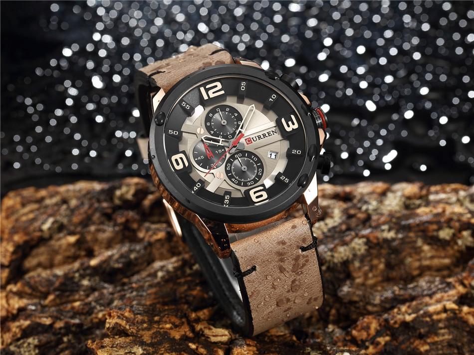 Uhren Herrenuhren Relogio Masculino New Curren 8288 Herrenuhren Top-marke Luxus Leder Männer Quarzuhr 2018 Casual Sport Uhr Männliche Armbanduhr