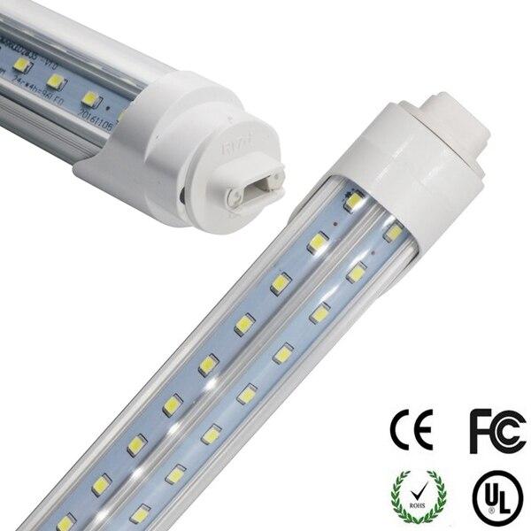 6ft 180cm 1800mm R17D Led Tube Light Adjustable Rotating 270 Degree LED V Shape Tube Lights for Cooler Door Clear/Milky Cover