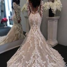 Vieruodis 2018 Long Sleeves Mermaid Wedding Dresses