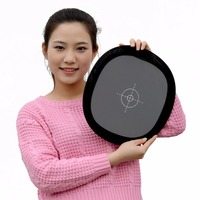 1Pcs Lot Grey Card Double 12 Inch Balance Folding Face Camera Reflector 18 Gray White Wholesale