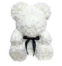 40cm Valentines Romantic Gift PE Rose Bear Artificial Decorations Cute Cartoon Girlfriend Kid Drop Shipping