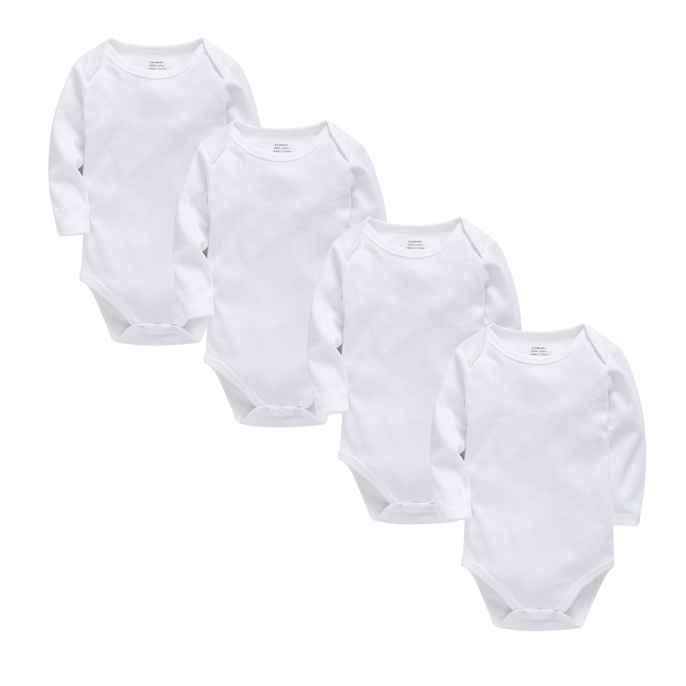 Fall Baby Bodysuits Cotton Newborn Boy Girl Long Sleeve Set White Blank Body Bebes Baby