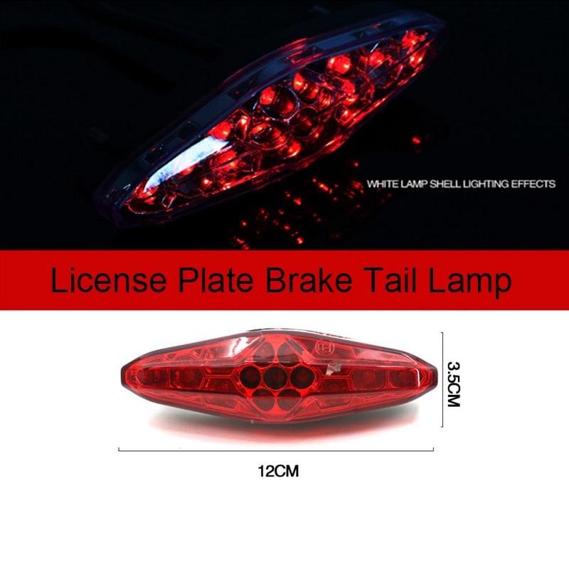 Motorcycle Turn Signal Light Offroad Moto Retro Rear Light Brake Light License Plate Brake Tail Lamp For Harley Cruise Taillon