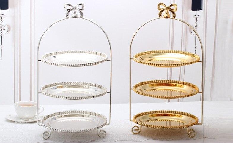 Accessoires de cuisson métal mariage dessert table centres de table décoration plaque titulaire snack plateau gâteau rack fête mariage accessoires