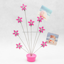 E33 PEACH BLOSSOM PINK MEMO/NOTE CLIP NOVELTY/CREATIVE STAINLESS HAND-MADE ART CRAFTS WEDDING&BIRTHDAY&HOME&OFFICE&GIFT&PRESENT