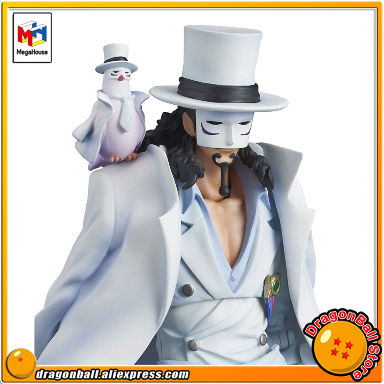 Japan Anime ONE PIECE Original MegaHouse Variable Action Heroes Action Figure - Rob Lucci prettyangel genuine megahouse variable action heroes one piece dracule mihawk action figure