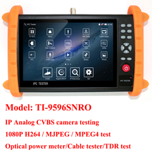 7 inch CCTV tester monitor analog CVBS IP camera tester with TDR ,cable tester ,optiacal power meter, cable tracer