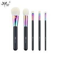 Anmor High Quality Makeup Brush Set 5 PCS Goat Hair Makeup Brushes Professional Colorful Make Up