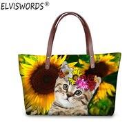 ELVISWORDS Cat Costume Bag Handbags Tote Bags Top Handle Bags Fashion Woman Messenger Handbag Shoulder For